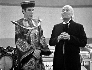 The Celestial Toymaker has a discussion with the Doctor