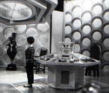 Susan stands in the original Tardis control room.
