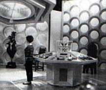 Susan stands in the original Tardis control room.
